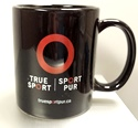 Image of True Sport Black Coffee Mug with Logo