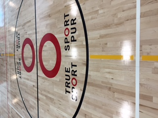 True Sport Logo on the Gym Floor