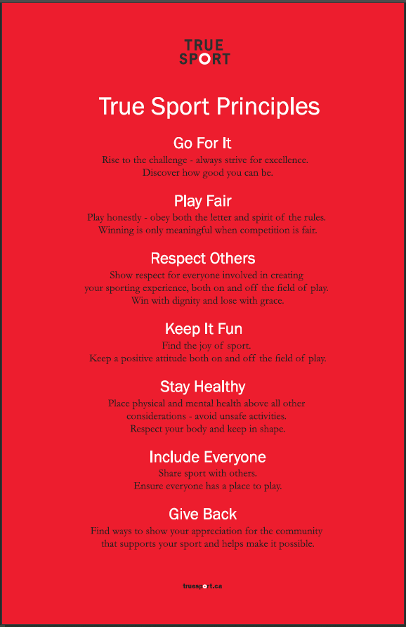 Image of True Sport Principles Poster in English