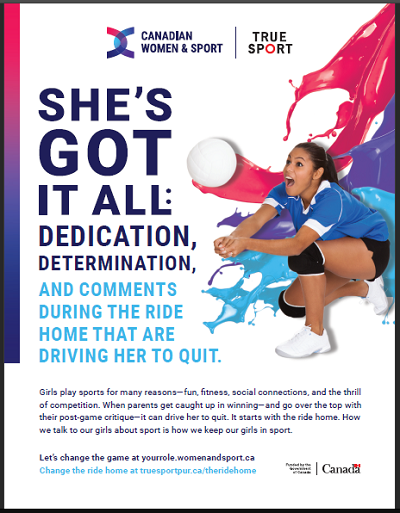Poster for She's Got it All True Sport Campaign