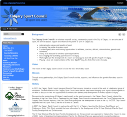 Calgary Sport Council web site