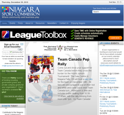Niagara Sport Commission web site
