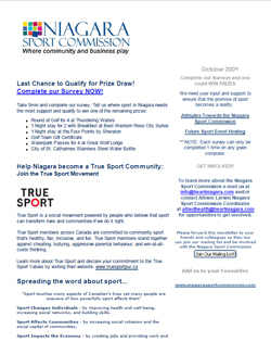 Niagara Sport Commission Newsletter