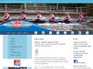 Welland International Flatwater Centre web site