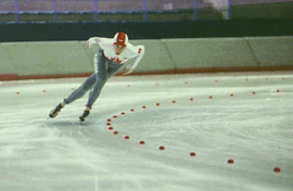 Speed Skater in full flight