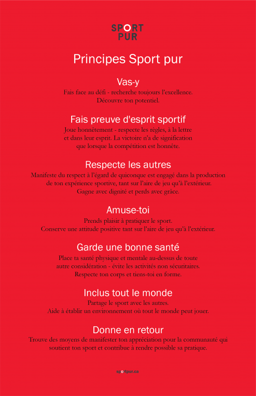 True Sport Principles Poster - French