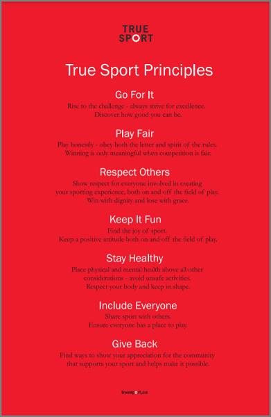 True Sport Principles Poster - English