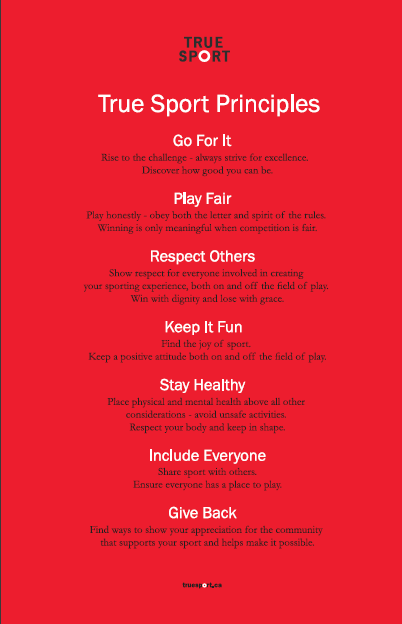 True Sport Principles Poster - in English